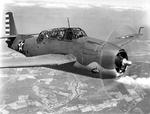 Grumman TBF-1C Avenger in flight, Jan-May 1942, location unknown. Photo 2 of 2.