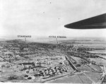 Reconnaissance photo of the two primary oil refineries in Ploesti Romania taken in preparation of the low level B-24 Liberator bomber attack of Aug 1 1943.