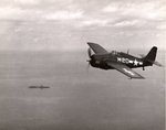 FM-2 Wildcat over the training carrier USS Sable, Lake Michigan, United States, 1944-45