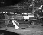 Kyushu J7W1 Type 18 Shinden discovered in a factory at Fukuoka, Japan Oct 10 1945, second of the two built and is now stored at the National Air and Space Museum in Washington DC.