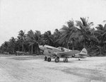 P-40N Warhawk fighter with the 45th Fighter Squadron at Nanumea Airstrip, Gilbert Islands, Dec 10 1943
