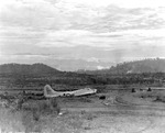 "B-17E Fortress ""Sally"" at 7-Mile Aerodrome, Port Moresby, New Guinea, May 22 1943. This was the personal transportation aircraft for LGen George Kenney, commander of Allied Air Forces, Southwest Pacific Area."