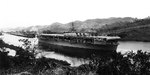 USS Ranger transiting the Pedro Miguel Locks of the Panama Canal, Apr 7 1935.