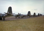 Boston III light bombers (British designation for lend-lease Douglas A-20 Havocs) of RAF 88 Squadron at RAF Attlebridge, Norfolk, England, UK, 1941-42.