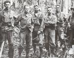 The senior staff of the 7th Marines on Cape Gloucester, New Britain, Jan 10 1944. Chesty Puller is the second from the left.