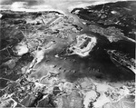 Overhead view of Pearl Harbor Naval Base, Oahu, Hawaii, 30 Oct 1941, 5 weeks before the attack. Photo 1 of 2.