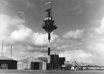 The mooring mast at Ewa Field, Oahu, Hawaii converted for use as a control tower, Feb 13, 1941.