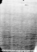 Japanese cruiser Kashii under attack from United States carrier aircraft off the coast of French Indochina (Vietnam) north of Qui Nhon, Jan 12, 1945. Photo 1 of 9