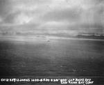 Japanese cruiser Kashii settling by the stern after being hit by an aerial torpedo from United States carrier aircraft off the coast of French Indochina (Vietnam) north of Qui Nhon, Jan 12, 1945. Photo 3 of 9