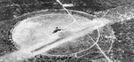 Aerial view of Ewa Field, Oahu, Hawaii, Jul 12, 1940. Although clearly an airship mooring field, this photo was not taken from an airship since no airship ever came within sight of this field.