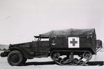 US Army M-3 Halftrack set up as an ambulance, Camp Young, California, United States, Nov 6, 1942