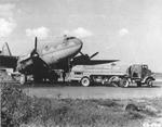 C-46 Commando being fueled for flight
