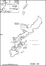 Map of Okinawa, Japan