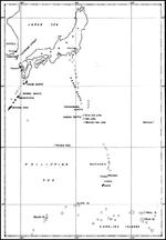 Map of the Philippine Sea from Japan to the Carolines