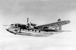 DC-5 prototype in flight with one engine feathered, 1939. This plane later flew with the US Navy as an R3D-3.