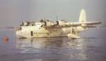 Short Sunderland tied to a mooring buoy, probably in the Mediterranean circa late 1942.