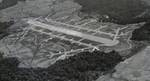 Aerial view of Fighter Strip #1 on Guadalcanal a short distance from the main airstrip at Henderson Field, 1944