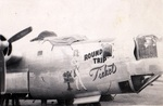 B-24L Liberator 'Round Trip Ticket' of the 33rd Bomb Squadron between missions at Clark Field, Luzon, Philippines, Mar-Jul 1945.
