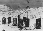 German Weather Station Kurt set up on the Hutton Peninsula, Labrador, Dominion of Newfoundland (now Canada) on 22 Oct 1943