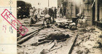 Killed civilians on Nanjing Road, Shanghai, China, Aug 1937; note Japanese censor