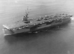 Escort Carrier USS Guadalcanal departing Norfolk, Virginia, United States to lead an anti-submarine hunter-killer group in the Atlantic, Capt Daniel V Gallery commanding. 15 May 1944