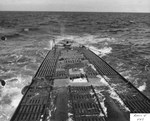 The after decks of the captured German Type IXC submarine U-505 after several days of pumping the bilges finally evened the trim of the U-Boat, 17 Jun 1944.