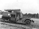 M3 Half-Track mounted with two 3-tube rocket launchers at the Bengal Air Depot near Calcutta (now Kolkata), India, 1942-45.