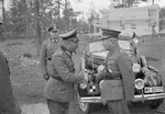 German Col General Nikolaus von Falkenhorst and Finnish Maj General Hjalmar Siilasvuo at their meeting in Kuusamo, Finland, 29 Aug 1941. Photo 4 of 4.