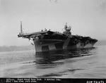 USS Yorktown (Essex-class) in the Puget Sound, Washington, United States, 6 Oct 1944.