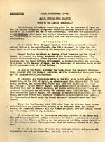 Letter from the Captain of the carrier Ticonderoga, William Sinton, to the ship's officers and men about what to expect in the days immediately following the Japanese surrender, 16 Aug 1945