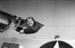 "Marie O'Dean ""Deanie"" Bishop in the cockpit of a basic trainer aircraft during her WASP training at Avenger Field, Sweetwater, Texas, United States, 11 Mar 1944. Photo may be from her first solo flight."