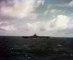 USS Lexington (Essex-class) steaming in the Pacific en route strikes against Mili Atoll in the Marshall Islands, Nov 1943