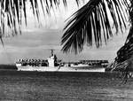 US carrier Ranger with her deck full of aircraft at anchor in Guantánamo Bay, Cuba, 10 Nov 1939.