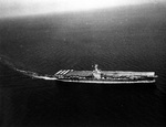 USS Ranger underway in 1942 painted in the unusual Measure 12 paint scheme.