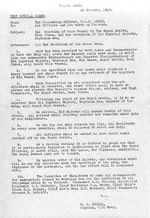 Written orders to the crew of USS Essex from Captain Donald B Duncan alerting crewmembers to the upcoming Line Crossing Ceremony, 22 Oct 1943