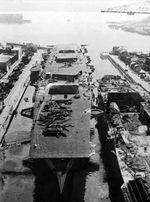 Ibuki under construction, Kure Naval Arsenal, Japan, date unknown