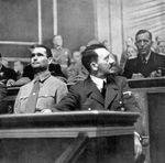 Rudolf Heß and Adolf Hitler at the Reichstag meeting at the Kroll Opera House, Berlin, Germany, 1 Sep 1939