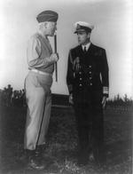 Lt General George Patton and Vice Admiral the Lord Louis Mountbatten at Camp Anfa near Casablanca, Morocco, 18 Jan 1943