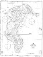 US Navy Mooring Plan for Ulithi Lagoon, Caroline Islands, Jun 1945. Ships' logs suggest there was an as yet unknown earlier mooring plan for Ulithi but this one was in use at least from Nov 1944.