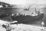 Landing ship No. 149, Osako beach of Kurahashi Island, Kure, Hiroshima, Japan, 2 Mar 1944