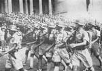 Troops of the Chinese Expeditionary Force on parade in front of the Rashtrapati Bhavan, New Delhi, Delhi, India, 24 Oct 1942