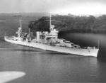 Heavy cruiser USS Vincennes passing through the Panama Canal, 6 Jan 1938