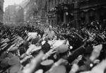 Adolf Hitler in a parade through München, Germany, 9 Nov 1933