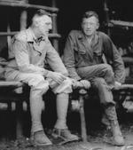 Lieutenant General Joseph Stilwell and Brigadier General Frank Merrill, Naubumy, Burma, 5 May 1944