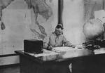 General Joseph Stilwell working in his office at Kandy, Ceylon, Aug 1944