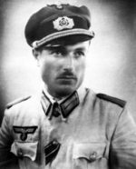 Portrait of Shalva Loladze in German uniform, 1940s