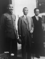 Chiang Kaishek with Japanese ambassador Shigeru Kawagoe, Nanjing, China, 6 Mar 1937