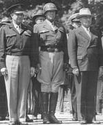 Dwight Eisenhower, George Patton, and Harry Truman, Berlin, Germany, 20 Jul 1945