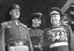 George Patton and Georgy Zhukov, Berlin, Germany, 7 Sep 1945