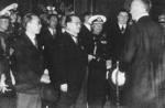 Ambassador Cheng Tianfang, Minister of Finance Kong Xiangxi (H. H. Kung), Minister of Navy Admiral Chen Shaokuan, and Minister of Economics Hjalmar Schacht in Berlin, Germany, 9 Jun 1937